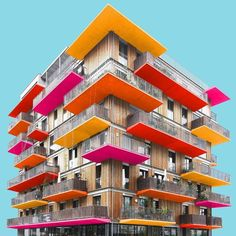 """Block of wood Via- ▪️connect to us will connect you to """"architecture"""" you """"ever"""" seen from Building Art, Multi Story Building, Make Color, Wood Blocks, House Colors, Interior And Exterior, Architecture Design, Minimalism, Chic Chic"""