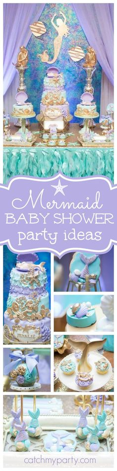 You don't want to miss this 'Awesome under the sea Mermaid Baby Shower'! The cake is amazing!! See more party ideas and share yours at http://CatchMyParty.com