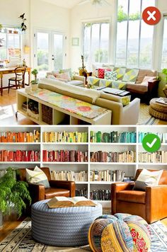 15 Easy to Fix Mistakes in Living Room Design. I've Been Doing Wrong My Entire Life. 15 Living Room Design Mistakes – Not using a room's functionality to its full potential. Beige Living Rooms, Indian Living Rooms, Small Living Rooms, Living Room Styles, Living Room Designs, Style Salon, Living Room Furniture Arrangement, Large Furniture, Room Lights
