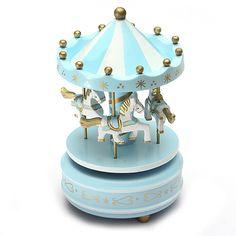 Manege-musical-chevaux-bois-carrousel-boite-a-musique-jouet-jeu-pr-enfant-bebe