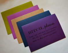 Will you be my Bridesmaid Card Bridesmaid by invitesbythisandthat