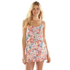 KOHLS - LC Lauren Conrad Print Pintuck Romper - Women's - Great for Vegas this summer!!!
