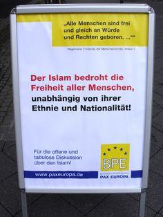 #Islamaufklärung Der Islam bedroht die Freiheit aller Menschen, unabhängig von ihrer Ethnie und Nationalität! — BPE informiert in Hannover über Islam / Islamisierung | (Bürgerbewegung PAX EUROPA e.V.)