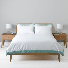 John Lewis Demi Duvet Cover, Duck Egg