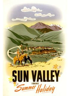 Vintage Travel USA ad poster Sun Valley Idaho by Vintagemasters