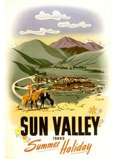 Vintage Travel USA ad poster Sun Valley Idaho by Vintagemasters