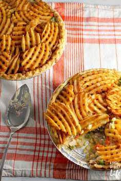 Mom's Chicken Pot Pie just got even better! Topped with waffle fries, this All-Natural Chicken Pot Pie dinner recipe is sure to become a new family favorite.