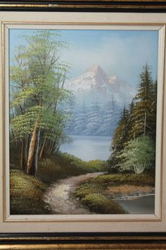 GOODMAN Spring Landscape Snowcapped Mountain Oil Painting On Canvas Signed