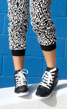 snow leopard printed pants
