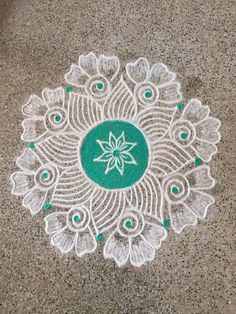 Source by leelavathyv. Indian Rangoli Designs, Rangoli Designs Latest, Rangoli Designs Flower, Rangoli Border Designs, Rangoli Patterns, Rangoli Ideas, Rangoli Designs Images, Rangoli Designs With Dots, Flower Rangoli