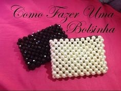 How To Make Crystal Beaded Purse Beaded Clutch, Beaded Purses, Beaded Bags, Pearl Crafts, Beaded Crafts, Beading Projects, Beading Tutorials, Beaded Jewelry Patterns, Beading Patterns