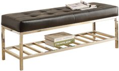Carson Leather Storage Bench