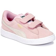 Χαμηλά Sneakers Puma SUEDE 2 STRAPS PS ροζ 62.00 € Puma Suede, Baskets, Basket Mode, Little Girl Fashion, Little Girls, Sneakers, Shoes, Shoe, Tennis