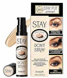 benefit eye primer... your shadow WILL NOT move!! looooove
