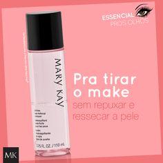 Demaquilante para a Área dos Olhos Mary Kay® Remove delicadamente a maquiagem dos olhos sem repuxar a pele delicada da região. Testado por oftalmologistas. Não resseca a pele.