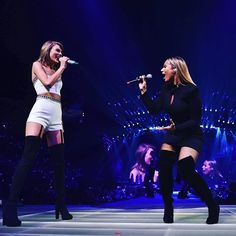 Taylor Swift with Leona Lewis - 1989 World Tour - Nashville, Tennessee - September 26, 2015 - Me losing my mind because @leonalewis is singing 'Bleeding Love' and it's the most glorious, beautiful thing I've ever heard or seen.