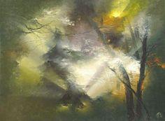 The artist Petras Lukosius. LESONA light of a second. Landscape Art, Landscape Paintings, Landscapes, Scratchboard Art, Ceiling Murals, Driftwood Sculpture, Art Studios, Love Art, Art World