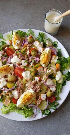 Mixed potato salad - My tasty cuisine - salat - Salade Good Healthy Recipes, Healthy Salad Recipes, Healthy Breakfast Recipes, Lunch Recipes, Dinner Recipes, Healthy Food, Dinner Entrees, Easy Meals, Eat