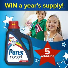 Win a Year's Supply of Purex No Sort! @purex I want to win this!