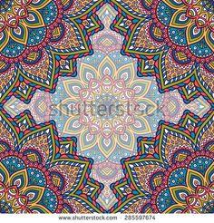 Seamless pattern. Vintage decorative elements. Hand drawn background. Islam, Arabic, Indian, ottoman motifs.