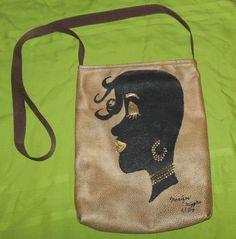Crossbody Handpainted Bag Tote, Glamor Girl #Handmade #TotesShoppers