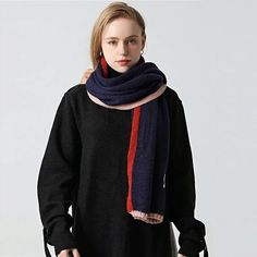 #Fall2021collection #Falloutfits #Fallcollection #FallWear #Autumnwear #fashionintrend #womenfashion #Expressyourself #autumncollection #auntumndress $50.00 $25.99 Sexy Beach Wear, Cashmere Color, Cute Fall Outfits, Red Pattern, Scarf Styles, Women Wear, Knitting, Winter Fashion, How To Wear