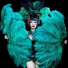 Burlesque Feather Fans by Talulah Blue by Talulahblueburlesque