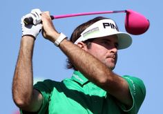 Bubba Watson with the pink PING driver...no wonder he won '12 The Masters
