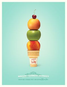 FRESH & TASTY l SNAP Program, Dallas Farmers Market Advertising Agency : Firehouse, Dallas, USA l Illustrator : Richard Thompson