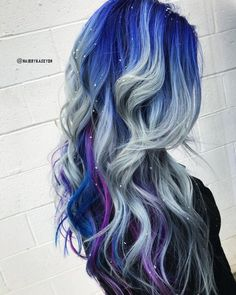 Icy color hairstyle