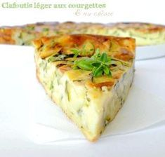 Light clafoutis with zucchini and goat cheese: the easy recipe - Recipes Easy & Healthy Easy Cooking, Cooking Time, Cooking Recipes, Food Porn, Goat Cheese Recipes, Quiches, My Best Recipe, Light Recipes, Food Inspiration