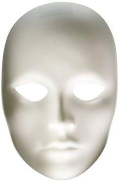 Chenille Kraft 4201 Plain Female Mask, Plastic, White Che...