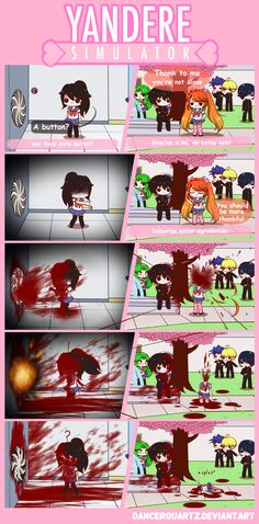 Yandere Comic - Strange bug by DancerQuartz on DeviantArt