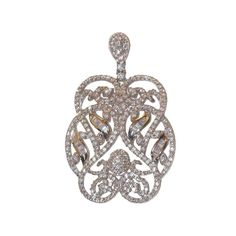Audrey Sterling Silver Pendant with Simulated Diamonds from Bijoux Closet