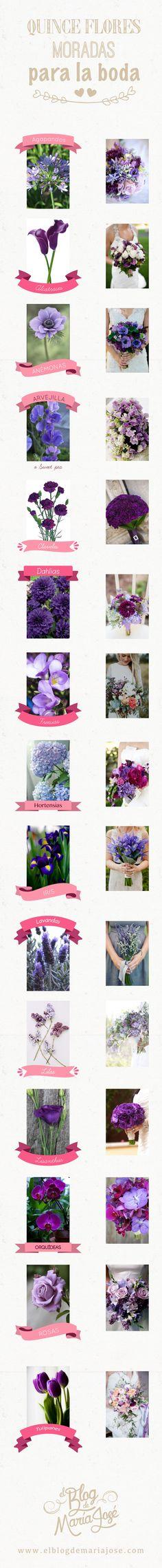 Quince flores moradas para la boda #bodas #ElBlogdeMaríaJosé #FloresBoda #UltraViolet Tea Party Decorations, Dream Wedding, Wedding Dreams, Ideas Para, Bouquets, Chic, Blog, Vestidos, Lilac Wedding