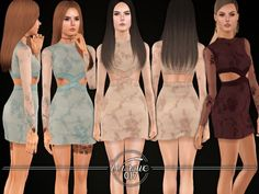 Sims 3 Clothing https://www.thesimsresource.com/downloads/details/category/sims3-clothing-female/title/embellished-bodycon-dress-%28teens%29/id/1335559/