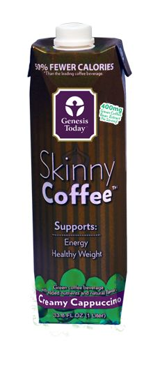 Genesis Today's Skinny Coffee™ Creamy Cappuccino is a rich, smooth beverage that supports healthy weight and cardiovascular function. It contains potent chlorogenic acids from green coffee beans, on of nature's most powerful antioxidants, which helps slow the release of sugar into the bloodstream and supports a healthy metabolism.*