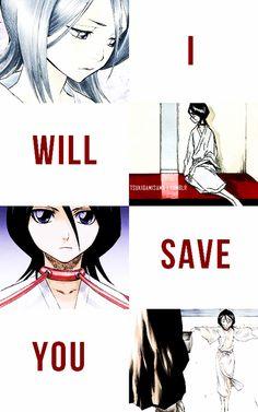 Ichigo will save Rukia. Cute Anime Pics, I Love Anime, Me Me Me Anime, Bleach Ichigo And Rukia, Bleach Manga, Bleach Couples, Shinigami, Anime Ships, Manga Anime