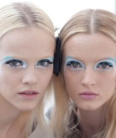 "aleworldaddict: "" Ginta and Daria Backstage at Miu Miu f/w 2012 """