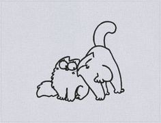 Simon's Cat Love - Machine embroidery design - 3 sizes for instant download by…