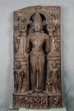 Surya 13th century AD, Eastern Ganga Dynasty Place of origin:Konarak, Orissa Materials:Stone Dimensions: Ht: 189.2 L: 89 W: 40.5 cm. Acc. No.50.178