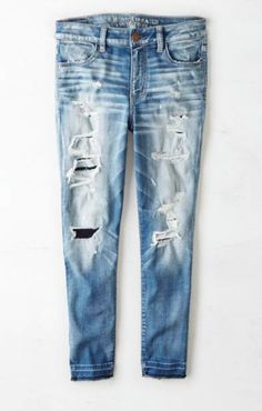 Hi-Rise Cropped Jeans