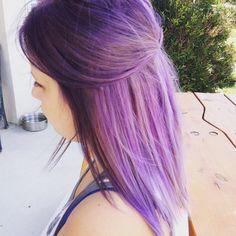 Purple hair.                                  @twirlsandcurlshd Vancouver, Curls Hair, Curled Hairstyles, Hair Designs, Studios, Long Hair Styles, Purple, Street, Beauty