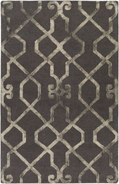 Features:  -Organic Amanda collection.  -Material: 100% Wool.  Technique: -Tufted.  Primary Color: -Charcoal and beige.  Material: -Wool.  Product Type: -Area Rug. Dimensions: Rug Size 4' x 6' -  Pile