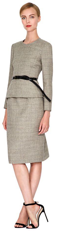 Calvin Klein ●  Belted Peplum Dress