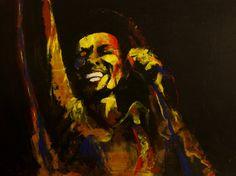 "Saatchi Online Artist Kim Overholt; Painting, ""Bob Marley - Exodus"" #art"