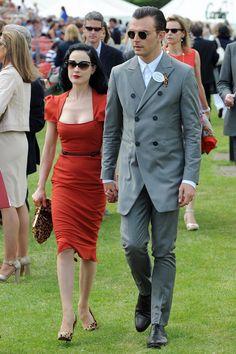 Dita von Teese and fiancee #sunglasses #ILoveSunglasses