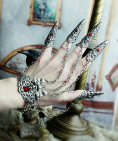 Vampire Nail Rings Armor Rings 5 piece Claw от ravenevejewelry