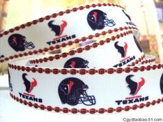 Houston Texans 1 Inch  Grosgrain Ribbon  3 by DixieGirlsWholesale2, $3.75