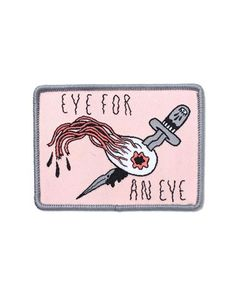 """It's only fair. - Embroidered patch w/ merrowed edge - Iron-on backing - Measurements: 3"""" x 2.25"""" By Sick Girls"""
